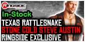TEXAS RATTLESNAKE STONE COLD STEVE AUSTIN RINGSIDE COLLECTIBLES EXCLUSIVE WWE TOY WRESTLING ACTION FIGURE BY MATTEL