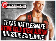 TEXAS RATTLESNAKE STONE COLD STEVE AUSTIN EXCLUSIVE TOY WRESTLING ACTION FIGURE BY MATTEL