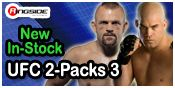 UFC DELUXE 2-PACKS 3 MMA ACTION FIGURES BY JAKKS PACIFIC