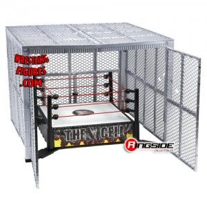 The Mattel WWE Hell in a Cell, with walls wide open!
