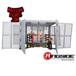 All trap doors and walls open on the Mattel WWE Hell in a Cell!