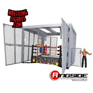 No one gets in and no one gets out of the Mattel WWE Hell in a Cell!