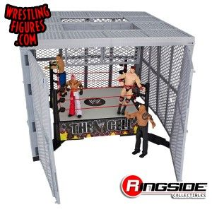 All figures are sold seperately in the Mattel WWE Hell in a Cell!