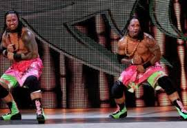 Mattel WWE Usos in pink and green!