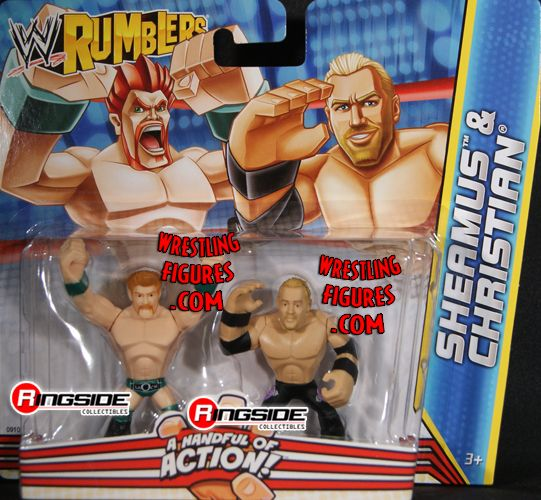 Mattel WWE Rumblers Christian and Sheamus!