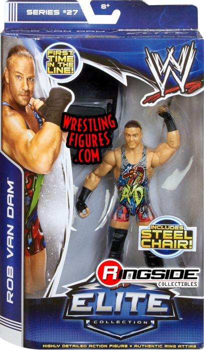 Mattel WWE Elite 27 Rob Van Dam - his first time in the line!