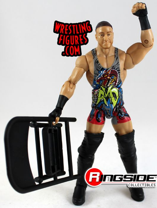 Mattel WWE Elite 27 Rob Van Dam with steel chair accessory!