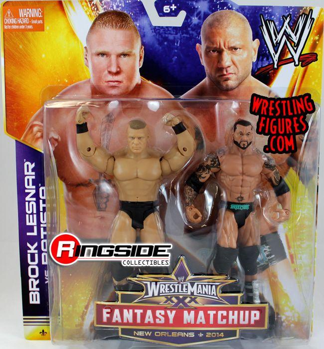 Mattel WWE WrestleMania XXX Batista vs. Brock Lesnar!