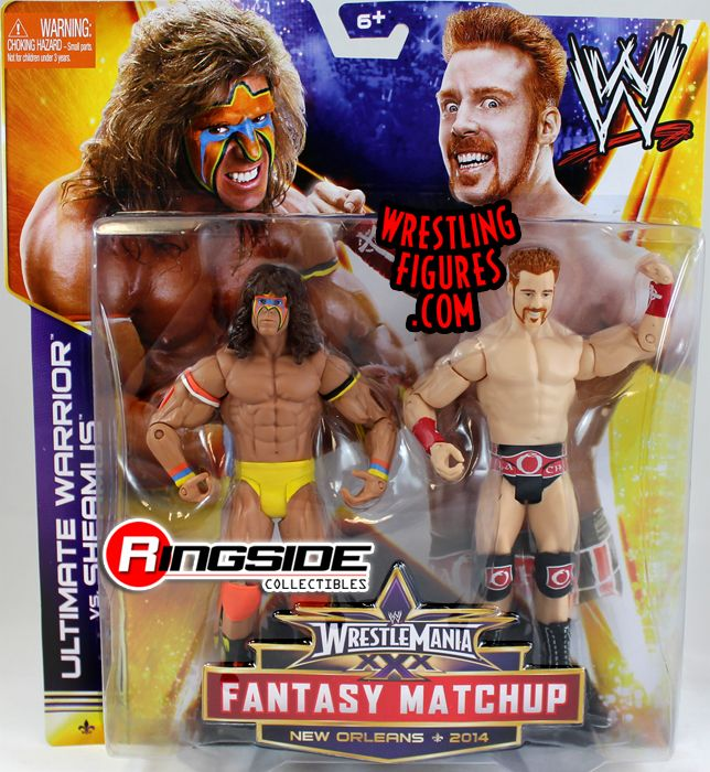 Mattel WWE WrestleMania XXX Battle Packs Sheamus vs. Ultimate Warrior!