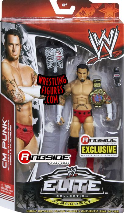 Mattel WWE ECW CM Punk Exclusive Wrestling Figure in Packaging!