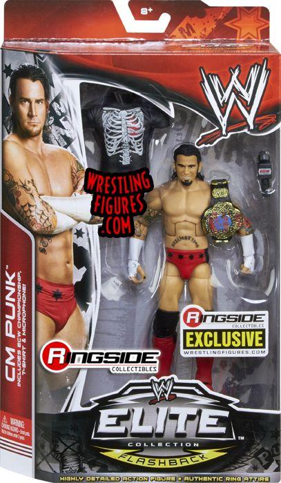 Mattel WWE ECW CM Punk Exclusive Wrestling Figure in Packaging!