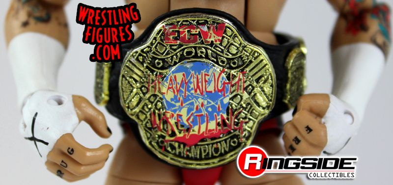 Mattel WWE ECW CM Punk Exclusive Wrestling Figure ECW Championship Accessory!