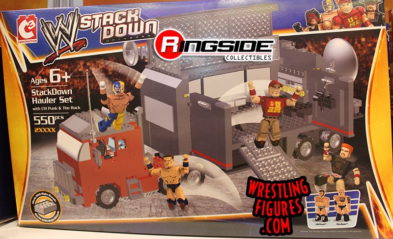 WWE Stackdown Hauler Playset by Bridge Direct!
