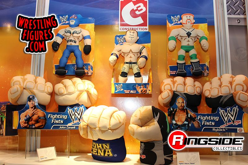 Other WWE items from Bridge Direct including plush toys and Fighting Fists!