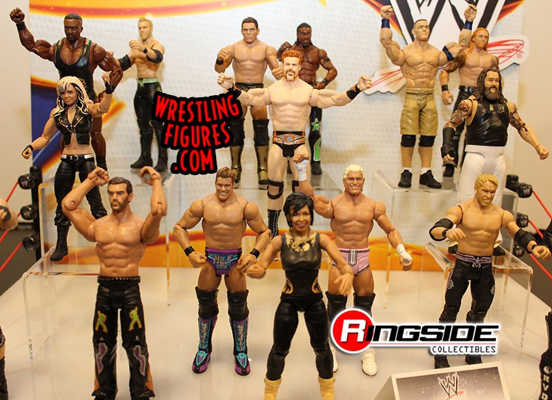 Mattel WWE Series Display At Toy Fair 2014!