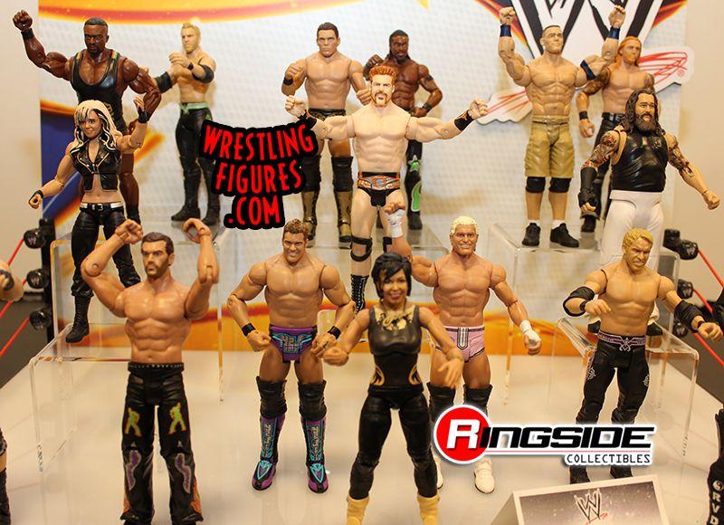 Mattel WWE Series Display At Toy Fair 2014!