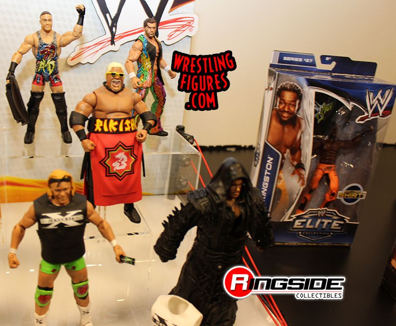 Mattel WWE Elite Display At Toy Fair 2014!