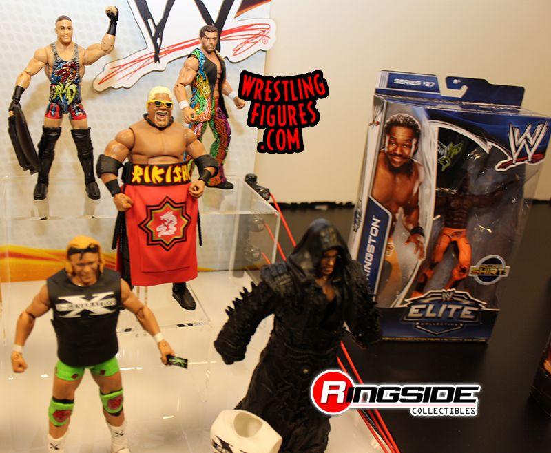 Mattel WWE Elite Display At Toy Fair 2014!