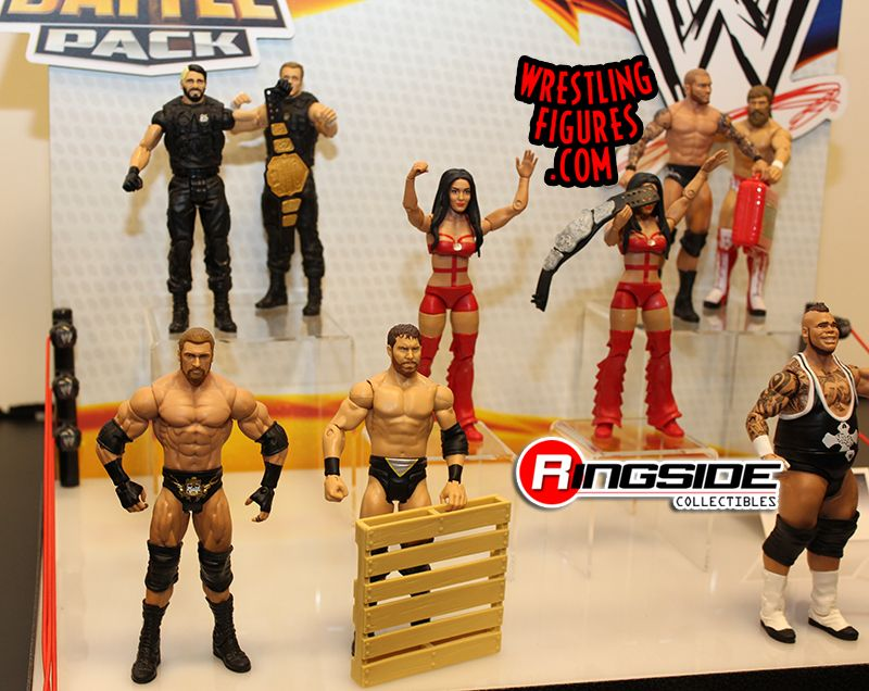 Mattel WWE Battle Packs Display at Toy Fair 2014!