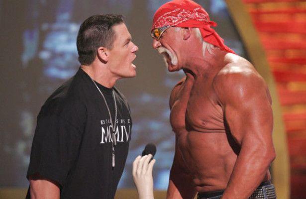 Hulk Hogan and John Cena at WrestleMania XXX! | Ringside Figures Blog!