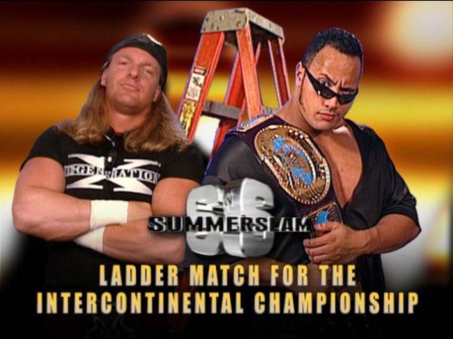 The Rock vs. Triple H at Summerslam 1998!