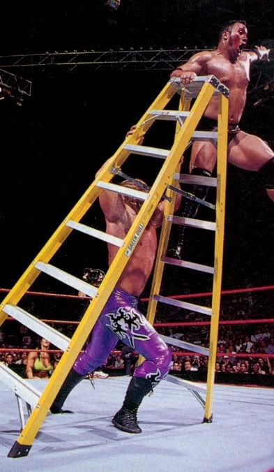 The yellow ladder from the match between The Rock and Triple H at Summerslam 1998!