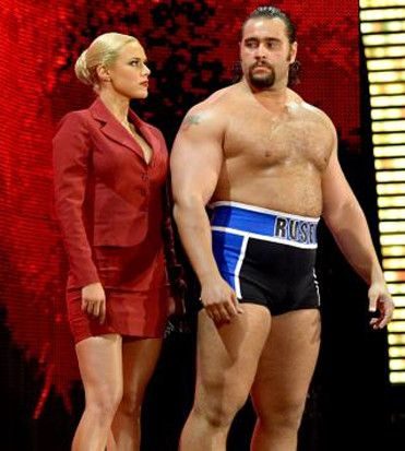 Lana and Rusev as Mattel WWE wrestling action figures!