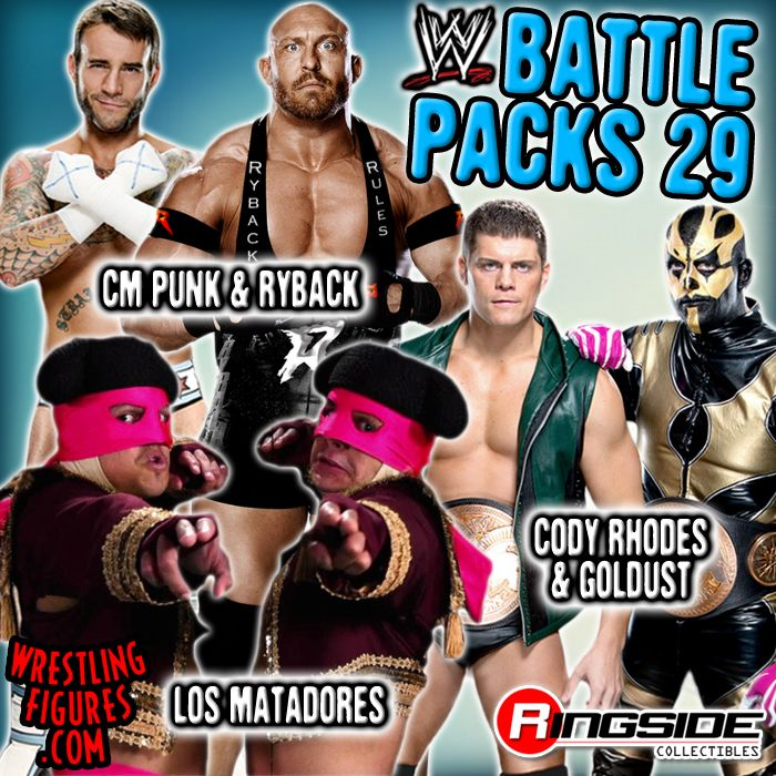 Mattel WWE Battle Packs 29 wrestling action figures!