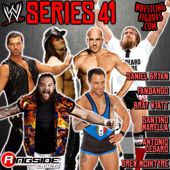 The Mattel WWE Series 41 wrestling action figures!