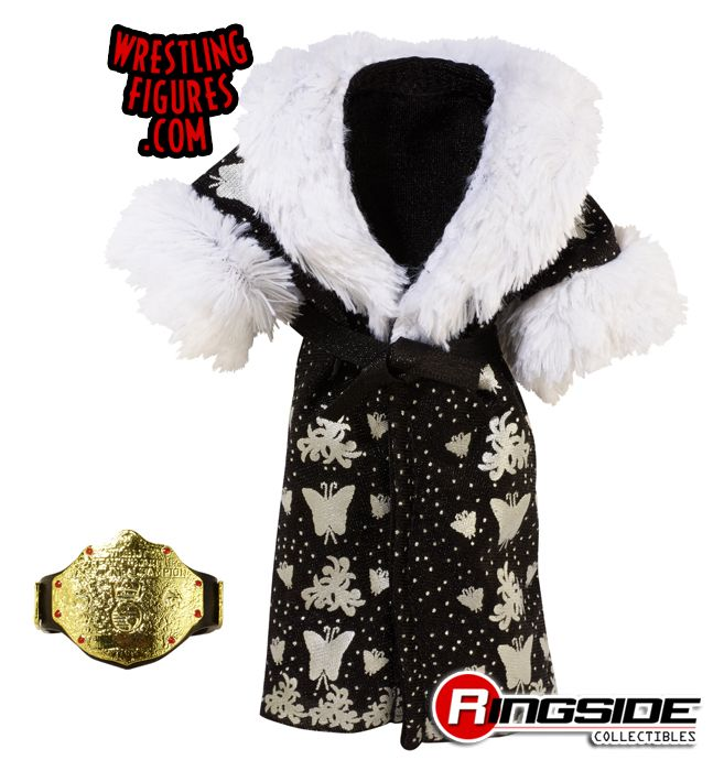 Mattel WWE Defining Moments Ric Flair robe and championship accessories!