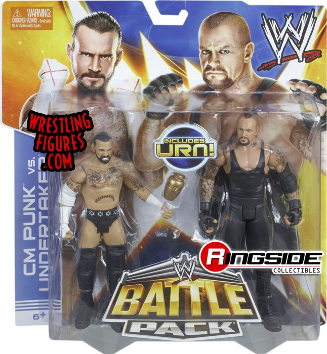 CM Punk vs. The Undertaker - Mattel WWE Battle Packs 25!