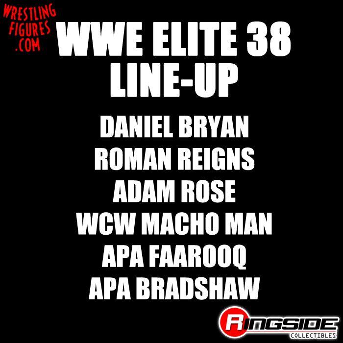 Mattel WWE Elite 38 Lineup!