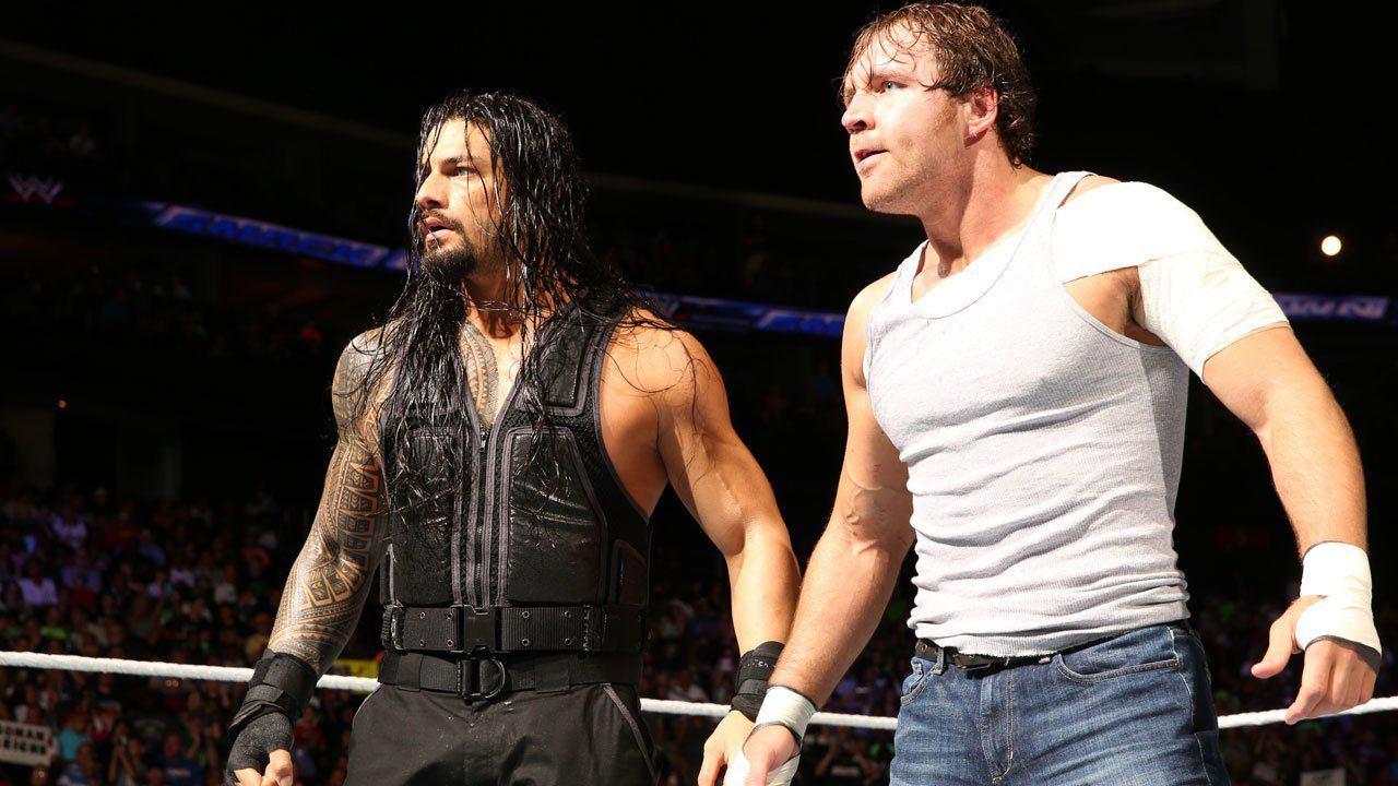Dean Ambrose Painting Roman Reigns And Dean Ambrose