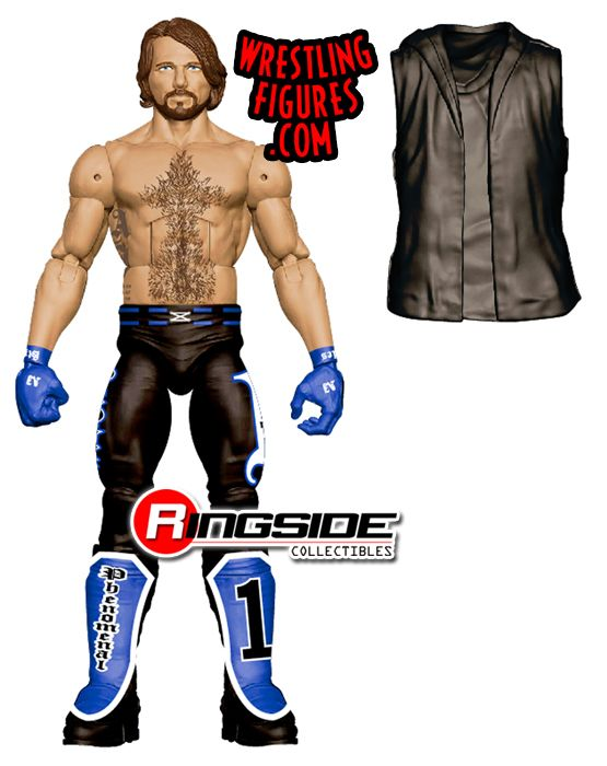 coloring pages action figures - aj styles wwe free coloring pages