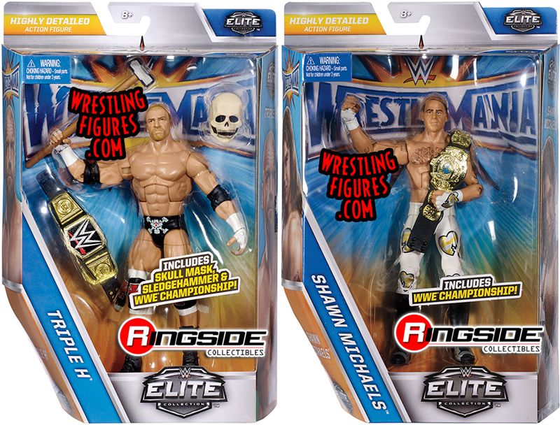 WWE Mattel Shawn Michaels Wrestlemania 33 Series Elite figure loose