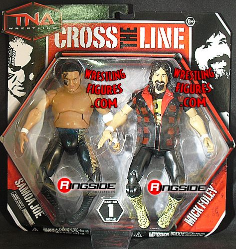 Mick Foley Amp Samoa Joe Tna Cross The Line 2 Packs 1