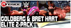 Mattel WWE Bret & Goldberg - Elite 2-Pack!