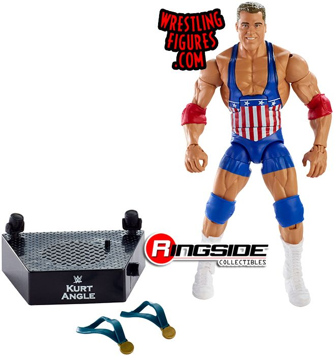 WWE Wrestling Mattel Entrance Greats Display Stand Accessory Kurt Angle Legends
