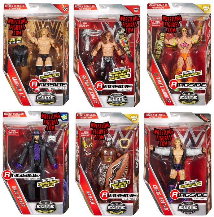 Wwe Elite Legends Toy Wrestling Action Figures By Mattel
