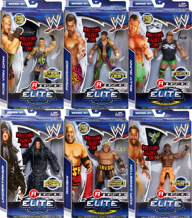 Wwe Elite 27 Complete Set Of 6 Ringside Collectibles