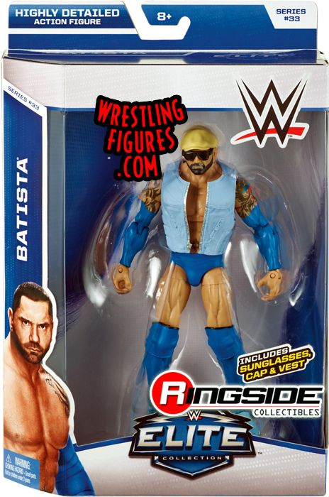Batista Wwe Elite 33 Wwe Toy Wrestling Action Figure By