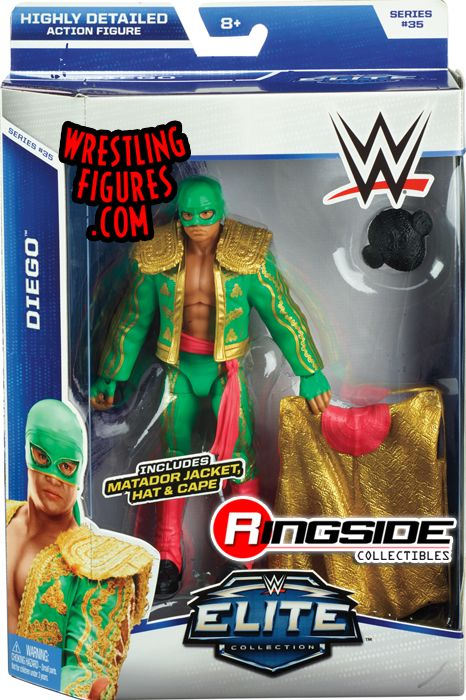 Diego Wwe Elite 35 Wwe Toy Wrestling Action Figure By Mattel