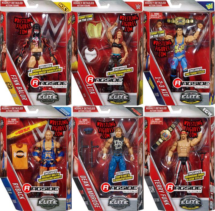 Wwe Elite 41 Complete Set Of 6 Wwe Toy Wrestling Action