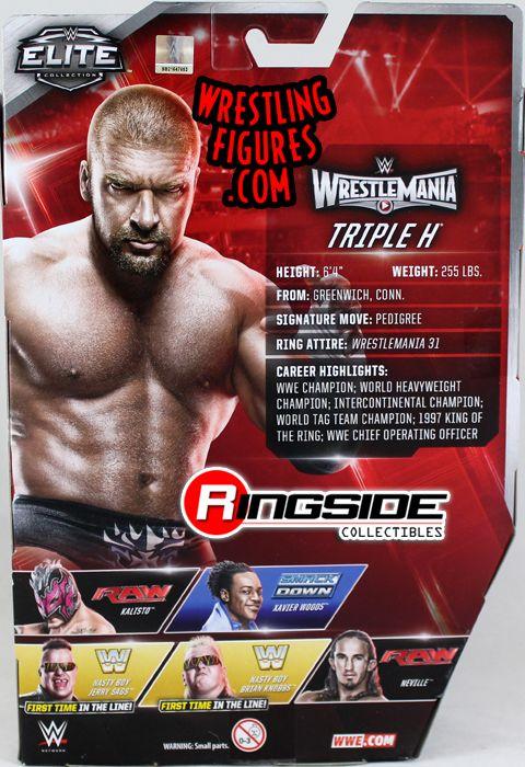 WWE MATTEL Elite Series 42 TRIPLA H WRESTLEMANIA Wrestling Raw Nuovo di Zecca Figura