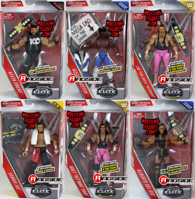 Replica Cars: WWE Elite 43 Toy Wrestling Action Figures By Mattel! This