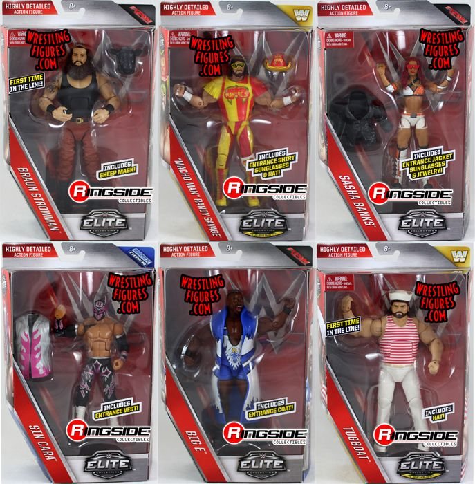 Wwe Elite 44 Toy Wrestling Action Figures By Mattel This