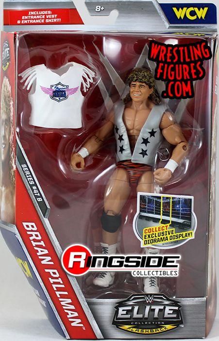 Brian Pillman-Elite Series 47B-New Boxed WWE Mattel Wrestling Figure