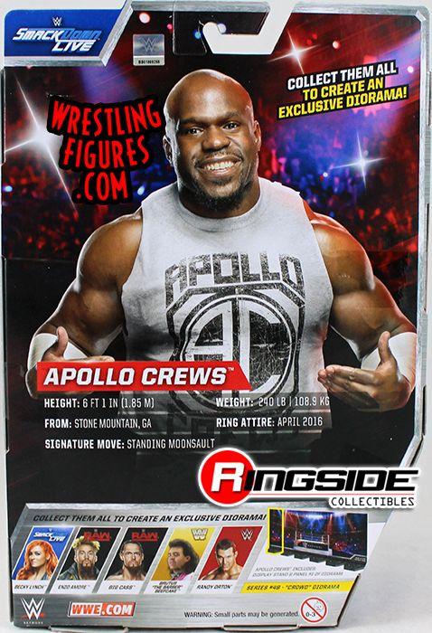 Action Figures WWE ELITE SERIES 49 APOLLO CREWS T-SHIRTS RAW NXT