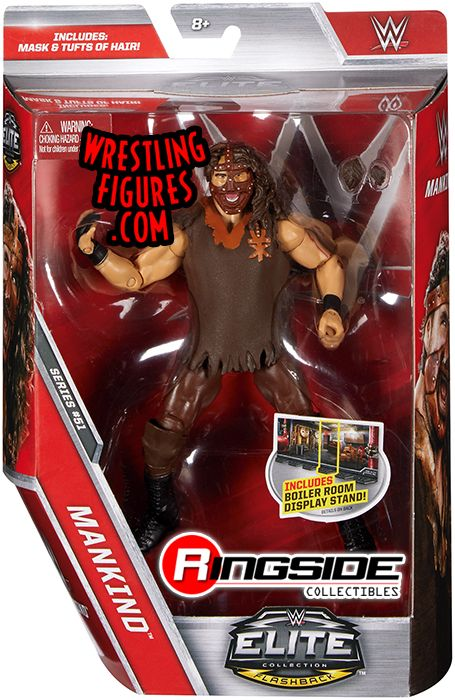 Mankind Mick Foley Wwe Elite 51 Wwe Toy Wrestling