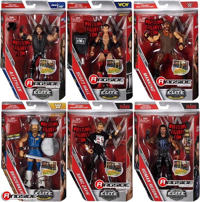 Wwe Elite 51 Toy Wrestling Action Figures By Mattel This